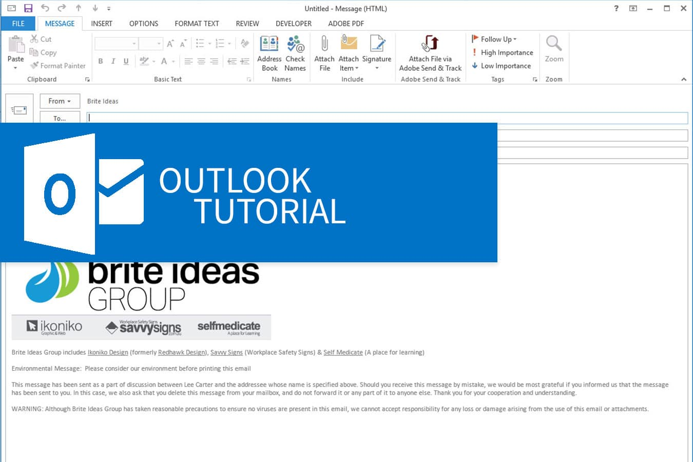 How to Create an Email Signature in Outlook