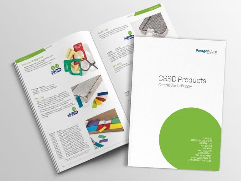 CSSD Products Booklet portfolio feature image A4 catalogue with front cover