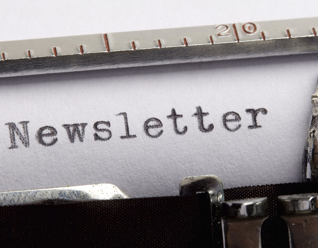 Clever and creative newsletter naming by brite ideas group